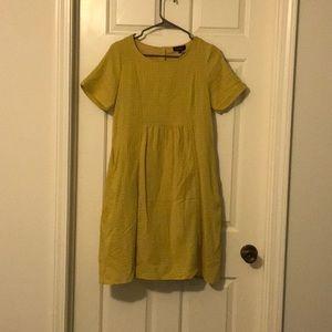 Yellow-green dress